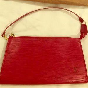 Authentic Louis Vuitton Epi leather Pochette